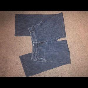 Ann Taylor Loft wide leg petite jeans